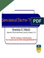 Semiclassical Transport