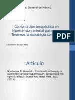 Combinación terapéutica en hipertensión arterial pulmonar