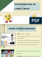 Espectrofotometría de Llama y Masa