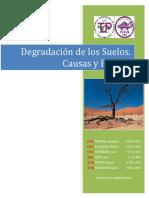 Degradación de Los Suelos. Causas y Efectos