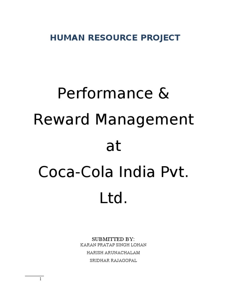 """32509104 performance management at coca For attracting and retaining he best, coca cola has continued to invest in employee development programs with """" emphasis on employee development plans, internal talent management, leadership development for managers and employee performance management."""