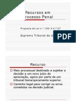 Reforma do Processo Penal na área dos recursos