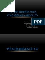 Presion Hidrostatica, Atmosférica y Absoluta