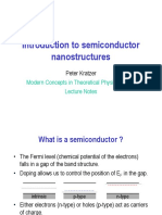 Introduction to Semiconductor Nanostructures