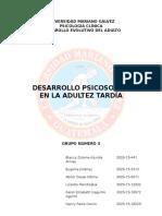 Informe Desarrollo Psicosocial en La Adultez Tardia