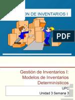 UPC LOGISTICA Y DFI Unidad 3 Sem 3 Gestión de Inventarios I Modelos de Inventarios Deterministicos.ppt