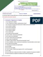 Questões de SST, Ergonomia, ECO & MA
