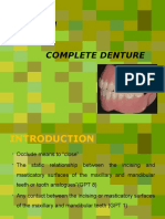 occlusion in complete denture