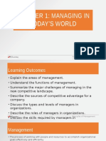 Chapter 1 Managing in Today'SWorld-Amended