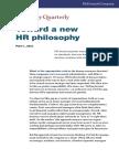 Toward a New HR Philosophy