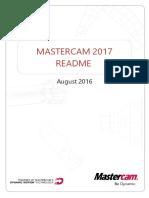 Mastercam2017 Update1 ReadMe