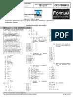 Folha de Exercícios B CFOPM 2010 Matemática Fortium
