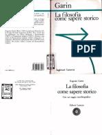 Eugenio Garin - La Filosofia Come Sapere Storico