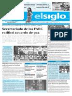 Edición Impresa Elsiglo 24-09-2016