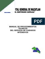 Manual de procedimientos tecnicos del servicio de cuidados intensivos. Hospital Dr. Martiniano Carvajal 2009.pdf