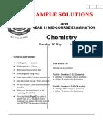 2015 Task 2 Yr 11mid-Course Chem Exam Solns