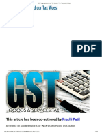 GST is Going to End Our Tax Woes