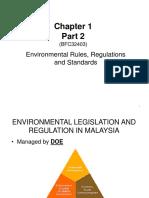 22 Sep 16 CHAPTER 1B - EnVIRONMENTAL Rules &Amp; Regulations Malaysia 2013
