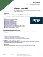 Replacing the NVRAM Battery Andor DIMM