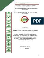 desarrollo y gestion de los almacenes de cadena de suministro