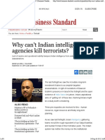 Why Can't Indian Intelligence Agencies Kill Terrorists