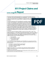 Projects Claims and Damages Report - Template