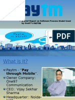 PAYTM - An Report on Software Process Model