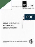 Estudio de La FAO Sobre La Pesca de Arrastre en Las Costas de Tunez.