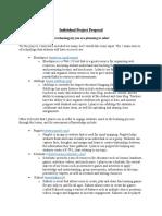 individual project proposal
