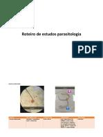 Roteiro de Estudos Parasitologia