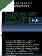 Manpower Training and Development