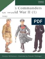 German Commanders of WWII Vol 1-Army