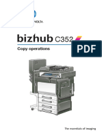 Bizhub c352 Copy Operations