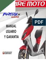 Manual de usuario de matrix elegance 150cc
