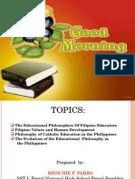 Filipino Educators and Thier Philosophies