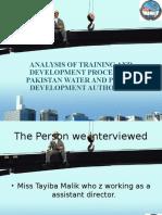 Training and development analysis in Wapda
