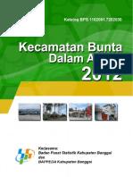 Kecamatan Bunta Dalam Angka 2012