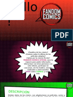Brochure Fandom Comics Oficial