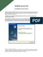AFGROW V5 02 Installation Instructions
