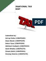 International Tax Environment