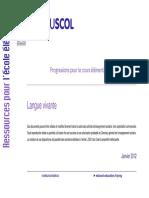 Programa Cycle 3. Progression-pedagogique