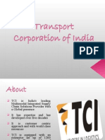 distribution system of Transport Corporation of India