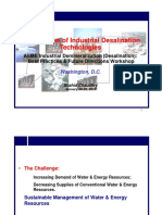 An Overview of Industrial Desalination Technologies
