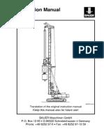 Instruction manual for BG25