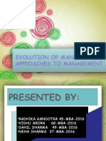 Evolutionof Management