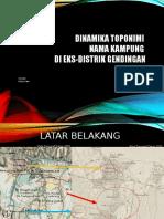 Dinamika toponimi