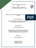 """""""La Educación Física en el nivel Primario del Sistema Dominicano de Educación General"""""""