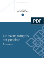 Institut Montaign Un Islam Francais Est Possible Annexes
