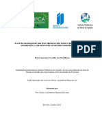 Gestão Da Qualidade Nas IPSS - Uma Refelexão Sobre a Sua Compreensão Em Organizações Com Respostas Sociais Para Idosos