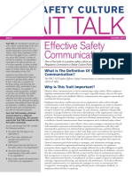 Safety Culture Traits Talk - Article